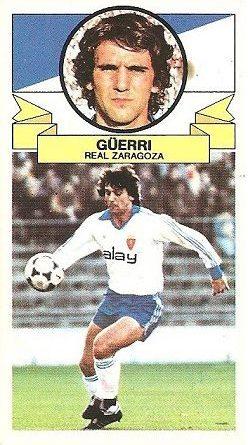 Liga 85-86. Güerri (Real Zaragoza). Ediciones Este.