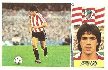 Liga 86-87. Urquiaga (Ath. Bilbao). Ediciones Este.