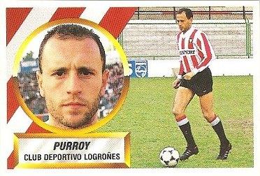 Liga 88-89. Purroy (C.D. Logroñés). Ediciones Este.