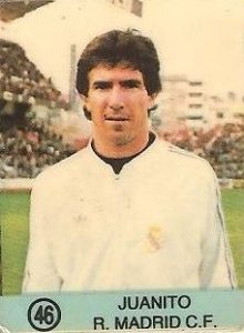 1983-84 Super Campeones. Juanito (Real Madrid). (Ediciones Gol).