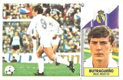 Liga 86-87. Butragueño (Real Madrid). Ediciones Este.