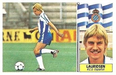 Liga 86-87. Lauridsen (R.C.D. Español). Ediciones Este.