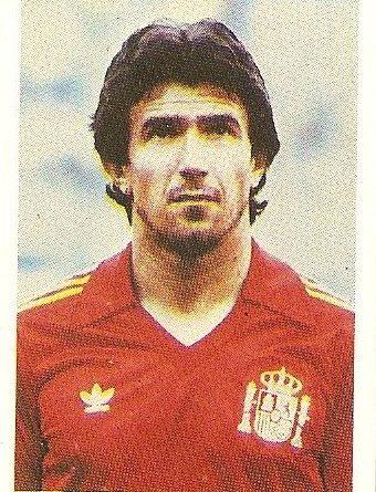 Eurocopa 1984. Juanito (España) Editorial Fans Colección.