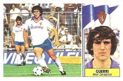 Liga 86-87. Güerri (Real Zaragoza). Ediciones Este.