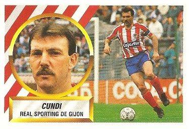Liga 88-89. Cundi (Real Sporting de Gijón). Ediciones Este.