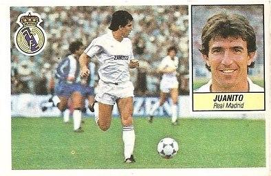 Liga 84-85. Juanito (Real Madrid). Ediciones Este.