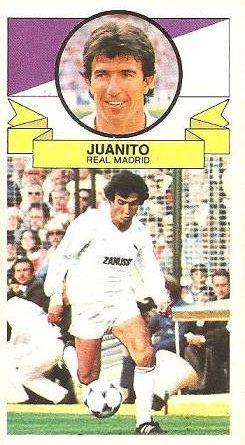 Liga 85-86. Juanito (Real Madrid). Ediciones Este.
