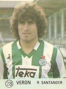1983 Selección de Fútbol Liga Española. Verón (Racing de Santander). Editorial Mateo Mirete.