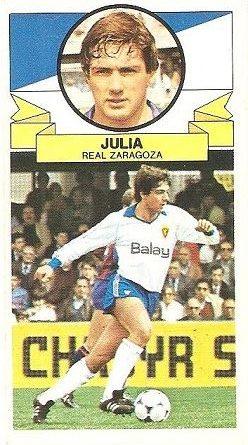 Liga 85-86. Juliá (Coloca por Moreno) (Real Zaragoza). Ediciones Este.