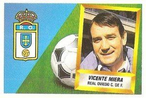 Liga 88-89. Vicente Miera (Real Oviedo). Ediciones Este.
