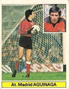 Liga 81-82. Aguinaga (Atlético de Madrid). Ediciones Este.
