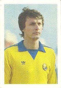 Eurocopa 1984. Iorgulescu (Rumanía). Editorial Fans Colección.