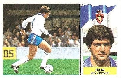 Liga 86-87. Juliá (Real Zaragoza). Ediciones Este.