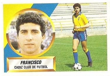 Liga 88-89. Francisco (Cádiz C.F.). Ediciones Este.
