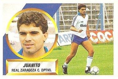 Liga 88-89. Juanito (Real Zaragoza). Ediciones Este.