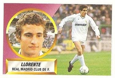 Liga 88-89. Llorente (Real Madrid). Ediciones Este.