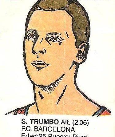 Liga Baloncesto 1985-1986. Trumbo (F.C. Barcelona). Ediciones Dubble Dubble.