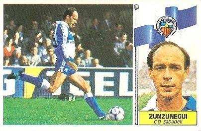 Liga 86-87. Zunzunegui (Centro de Deportes Sabadell). Ediciones Este.