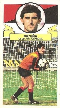 Liga 85-86. Vicuña (Club Atlético Osasuna). Ediciones Este.