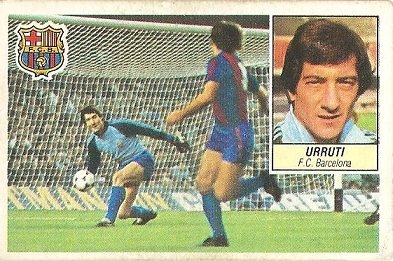 Liga 84-85. Urruti (F.C. Barcelona). Ediciones Este.
