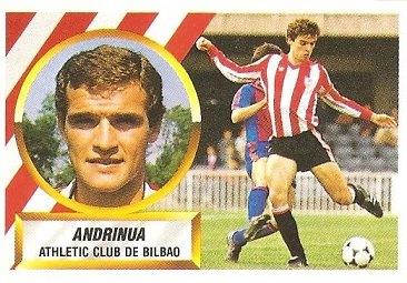 Liga 88-89. Andrinua (Ath. Bilbao). Ediciones Este.