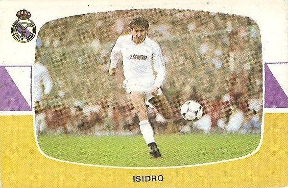 Liga 84-85. Isidro (Real Madrid). Cromos Cano.