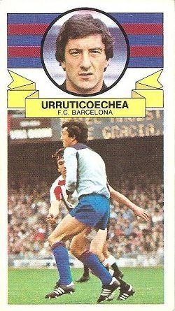 Liga 85-86. Urruticoecha (F.C. Barcelona). Ediciones Este.
