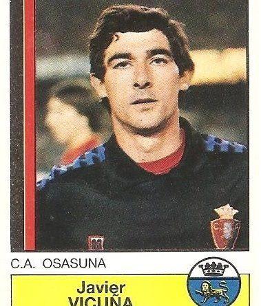 Fútbol 87. Vicuña (Club Atlético Osasuna). Ediciones Panini.