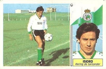 Liga 86-87. Isidro (Racing de Santander). Ediciones Este.