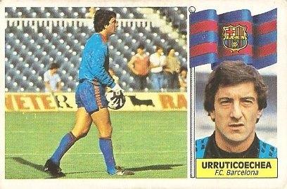 Liga 86-87. Urruticoechea ( F.C. Barcelona). Ediciones Este.