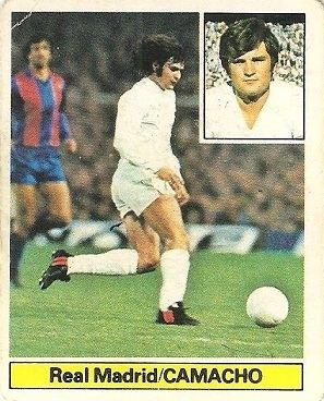 Liga 81-82. Camacho (Real Madrid). Ediciones Este.