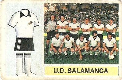 Liga 82-83. Alineación U.D. Salamanca (U.D. Salamanca). Ediciones Este.