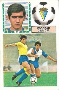Liga 83-84. Escobar (Cadiz C.F.). Ediciones Este.