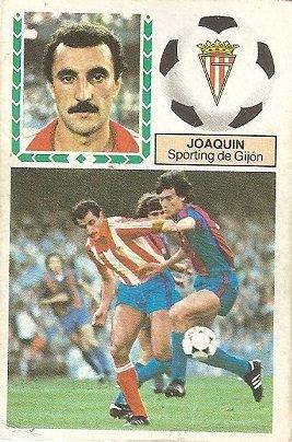 Liga 83-84. Joaquín (Sporting de Gijón). Ediciones Este.