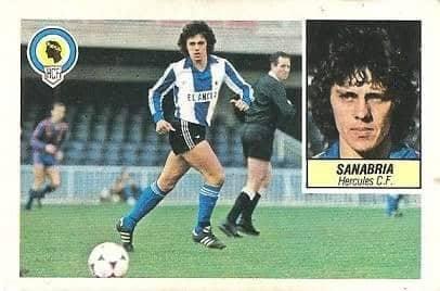 Liga 84-85. Sanabria (Hércules C.F.). Ediciones Este.