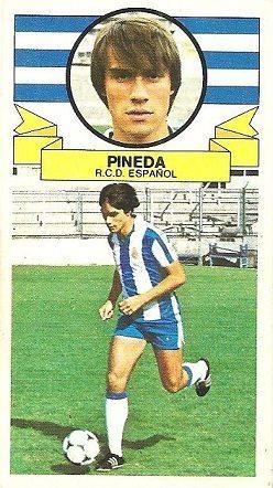 Liga 85-86. Pineda (R.C.D. Español). Ediciones Este.