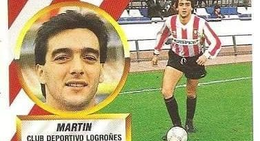 Liga 88-89. Martín (C.D. Logroñés). Ediciones Este.