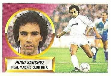 Liga 88-89. Hugo Sánchez (Real Madrid). Ediciones Este.