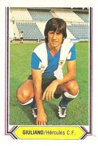 Liga 80-81. Giuliano (Hércules C. F.). Ediciones Este.
