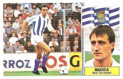 Liga 86-87. Mugica (Real Sociedad). Ediciones Este.