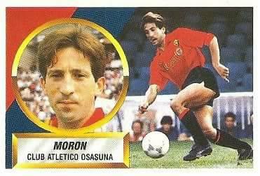 Liga 88-89. Fichaje Nº 19 Morón (Club Atlético Osasuna). Ediciones Este.