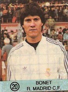 1983-84 Super Campeones. Bonet (Real Madrid). (Ediciones Gol).