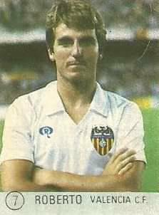 1983 Selección de Fútbol Liga Española. Roberto (Valencia C.F.). Editorial Mateo Mirete.