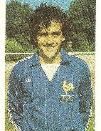 Eurocopa 1984. Platini (Francia). Editorial Fans Colección.