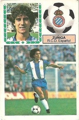 Liga 83-84. Zuñiga (R.C.D. Español). Ediciones Este.