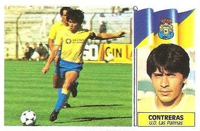 Liga 86-87. Contreras (U.D. Las Palmas). Ediciones Este.
