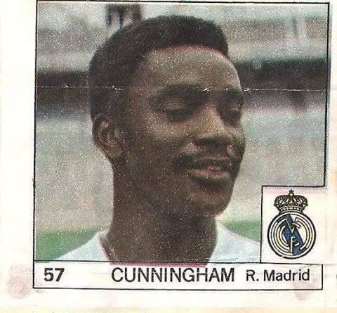 Super Cromos Los Mejores del Mundo (1981). Cunningham (Real Madrid). Chicle Fútbol Boomer.