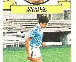 Liga 85-86. Cortés (Real Club Celta de Vigo). Ediciones Este.