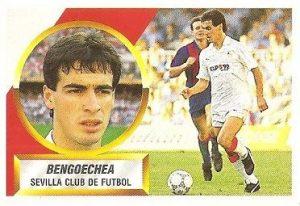 Liga 88-89. Bengoechea (Sevilla C.F.). Ediciones Este.