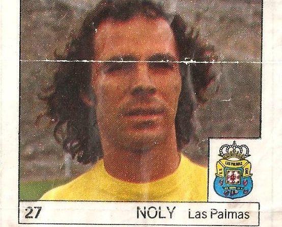 Super Cromos Los Mejores del Mundo (1981). Noly (U.D. Las Palmas). Chicle Fútbol Boomer.